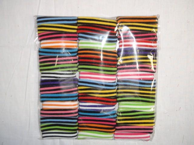 Резинка д/волос цветная, шелк, 8*1,5 см., (цена за 48 штук)