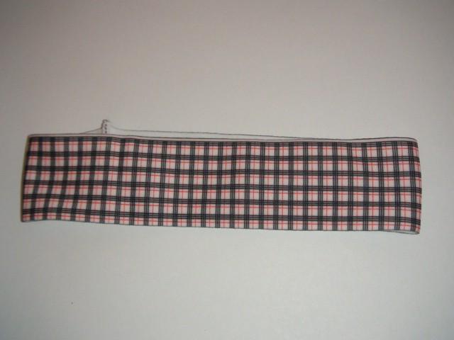 """Резинка-повязка для волос """"Клетка"""" 20*5 см., ткань, 1 штука."""