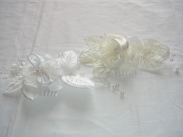 Свадебный гребень с цветком