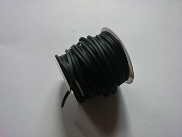 Шнур декоративный круглый, 5 метров, черный.
