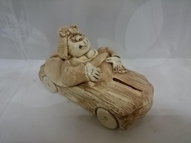 "Копилка ""Бабка в Авто"" 17 х 7 х 9 см, керамика."