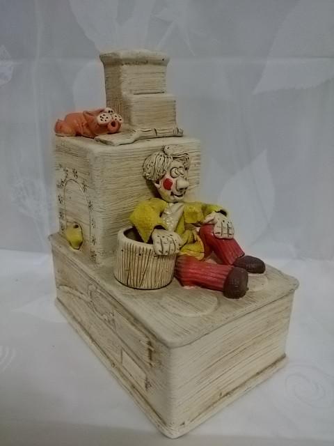 "Копилка ""Емеля на печи"" 17 х 11 х 22 см, керамика."