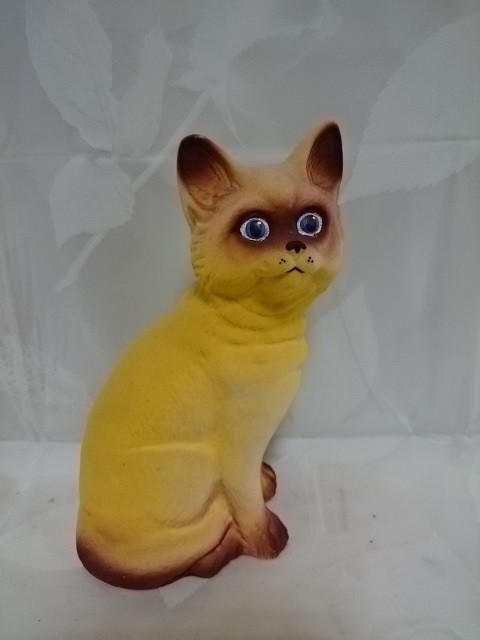 Копилка Кошечка, 22 см, керамика, флок.