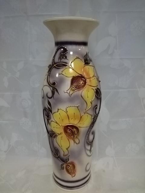 """Ваза напольная """"Эллада"""", керамика, 650 мм, глазурь."""