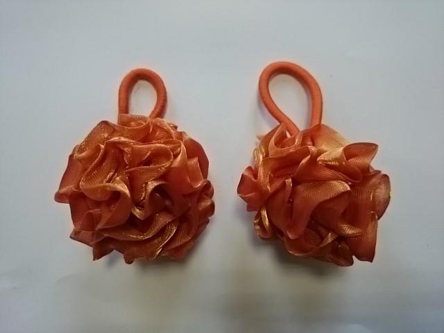 Резинка-шарик для волос, d 5 см, цена за пару, цвет - коричневый.