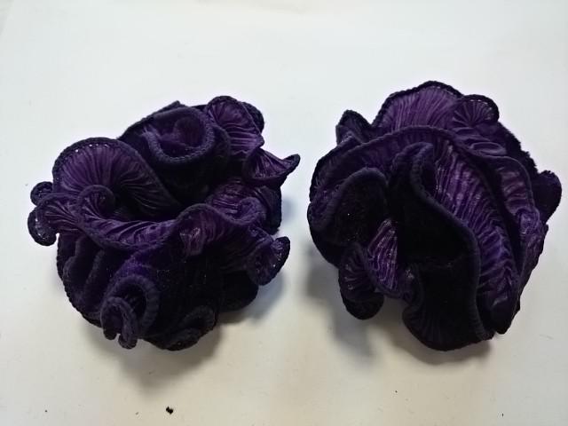 Резинка для волос велюровая, d 10 см, цена за пару, цвет - фиолетовый.