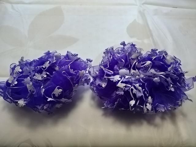 Резинка для волос капроновая, d 10 см, цена за пару, цвет - фиолетовый.