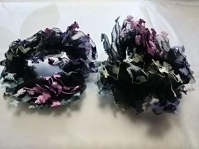 Резинка для волос капроновая, d 10 см, цена за пару, цвет - чёрный.