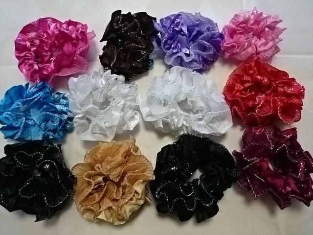 """Резинка для волос """"Бусинка"""", гофрированная, цветная, D=10 см, цена за 12 штук."""