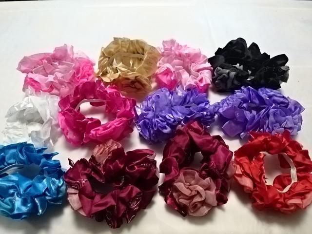 """Резинка для волос цветная """"Розочки"""", D=10 см, цена за 12 штук."""