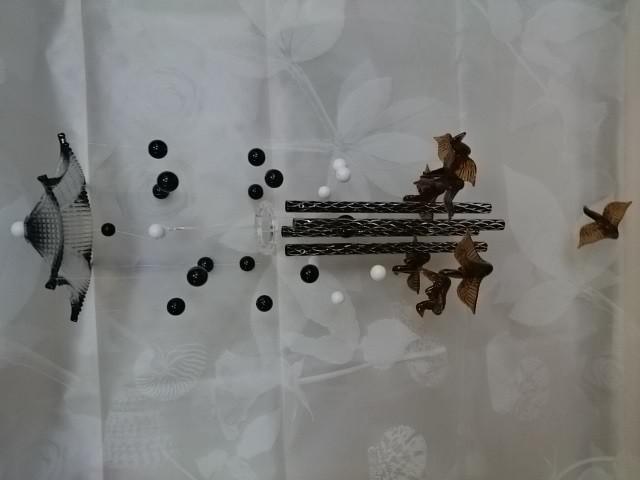 """Музыка ветра """"Птички"""", 60 см, металл, пластик."""