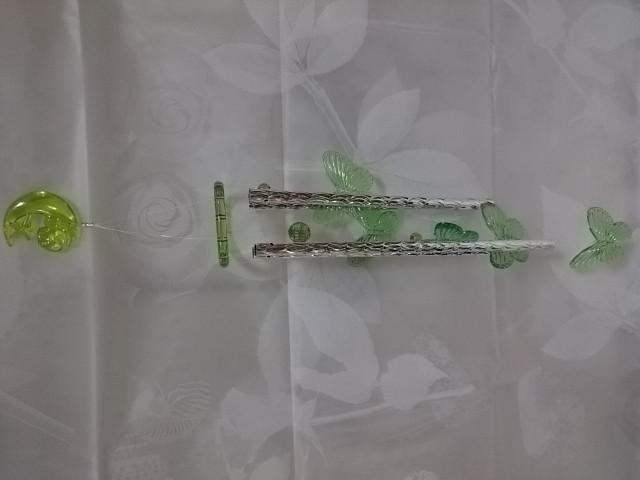 """Музыка ветра """"Бабочки зелёные"""", 60 см, металл, пластик."""
