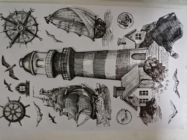 """Наклейки объёмные 5D """"Эйфелева башня"""", 36 х 65 см."""