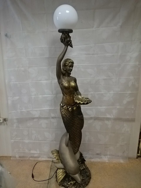 "Светильник ""Русалка"", полистоун, h 210 см."