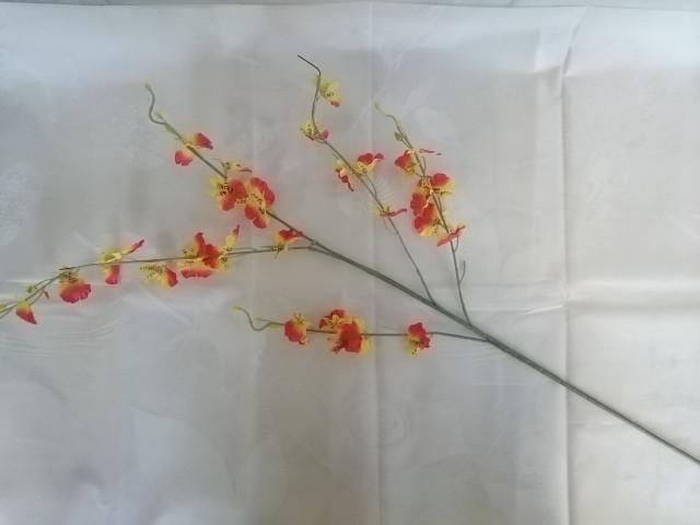 Ветка Орхидеи 93 см, оранжевая, 1 штука.