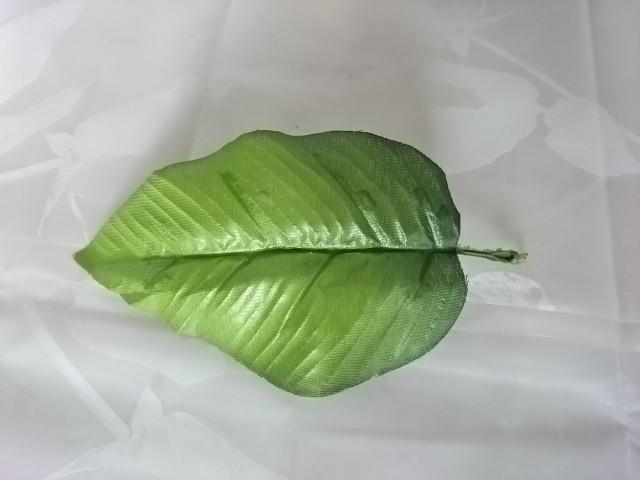 Лист яблони, 16 см, 1 штука, пластик, металл.