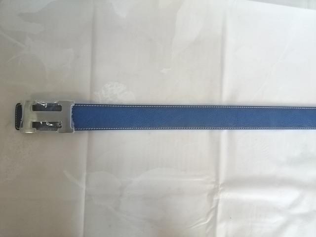 Ремень для брюк, ш. 40 мм, синий, дл. 104-120 см, КожЗам.
