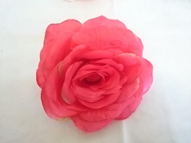 """Насадка """"Роза"""", 14 см, натуральный шёлк с пенопластом, 1 штука."""