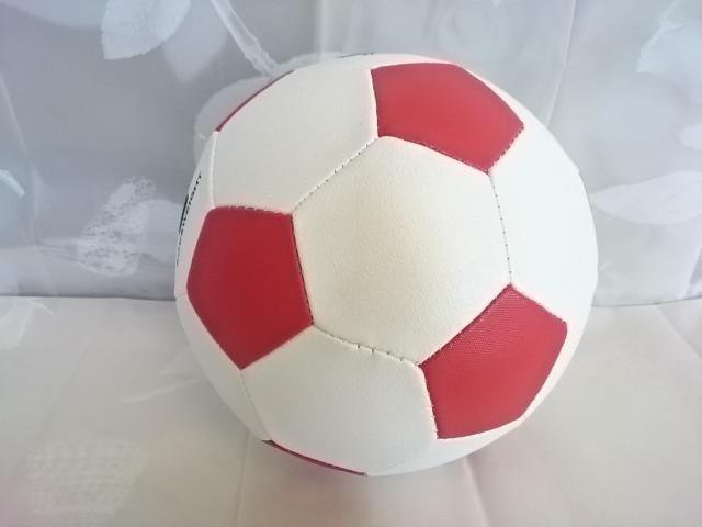 Футбольный мяч, р.5, ПВХ, бело-красный