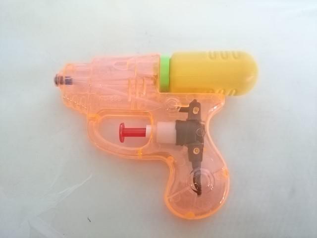 Пистолет водный 12см, пластмасса.