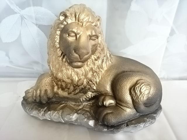 "Сувенир ""Лев лежачий малый"", 26 х 20 см, гипс."
