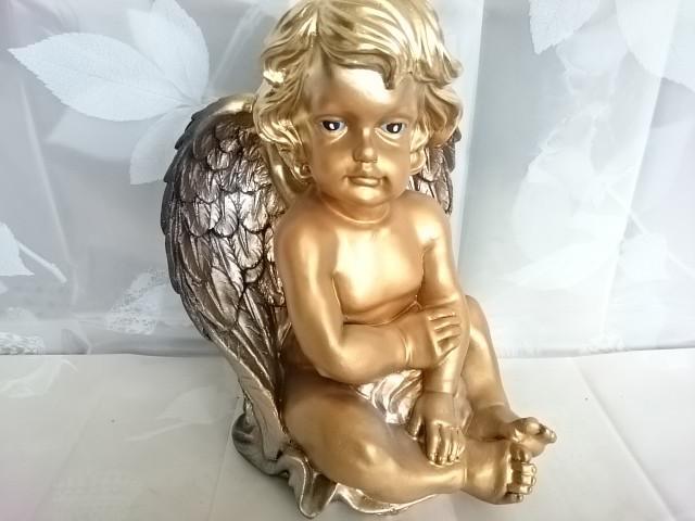 "Сувенир ""Ангел сидя "", 32 х 20 см, гипс."