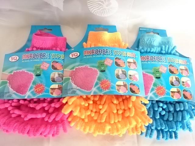 Варежка для уборки из микрофибры односторонняя