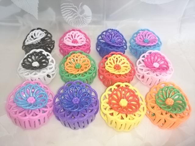 Заколка-краб для волос 6 см, пластик, 1 штука, цвет в ассортименте.