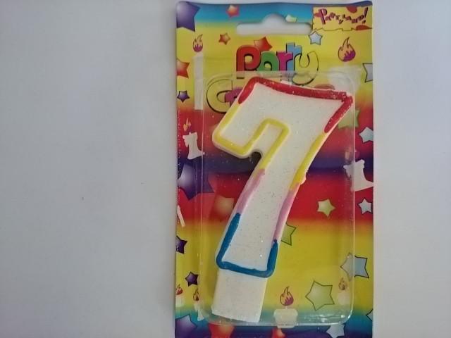 """Свеча в торт """"ЦИФРА 7"""" - 10*5,5*1,5 см 1 ШТУКА."""