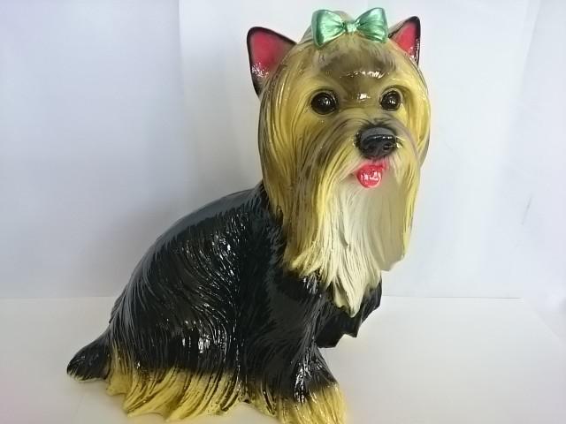 Копилка Собака-Болонка, 35 см, гипс.