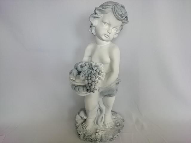 Сувенир Мальчик с корзиной античный, 50 см, гипс.