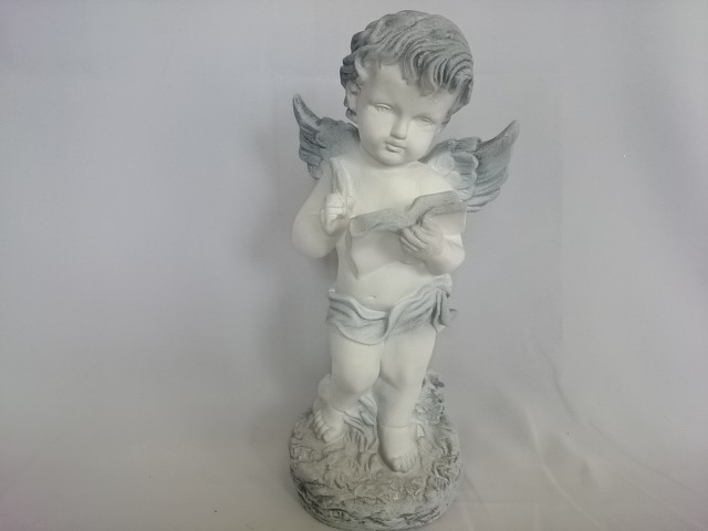 Сувенир Ангел с книгой античный, 34 см, гипс.