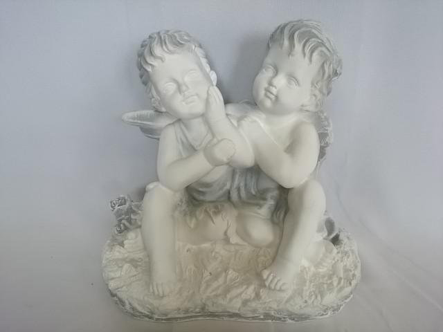 """Сувенир """"Ангел и фея"""" античный, 25 х 25 см, гипс."""