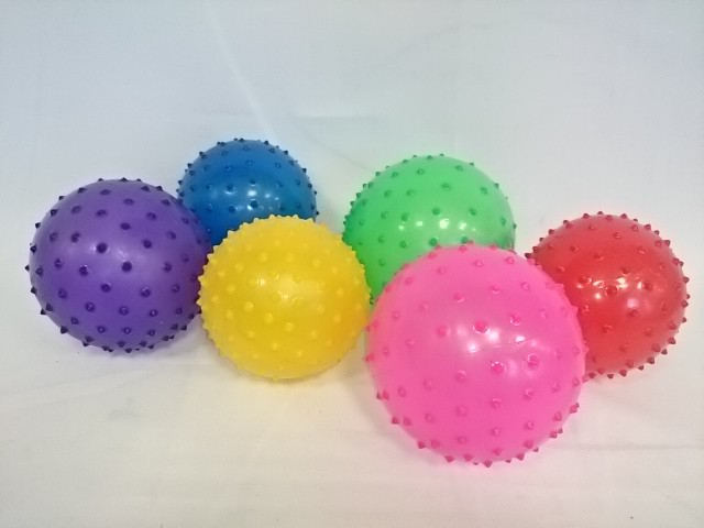 Мяч ёжик 12 см, силикон, 1 штука.