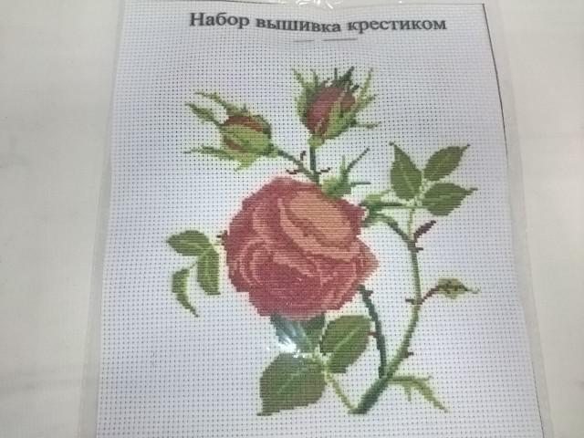 """Вышивка крестиком 26*20,5 см """"Розы""""."""