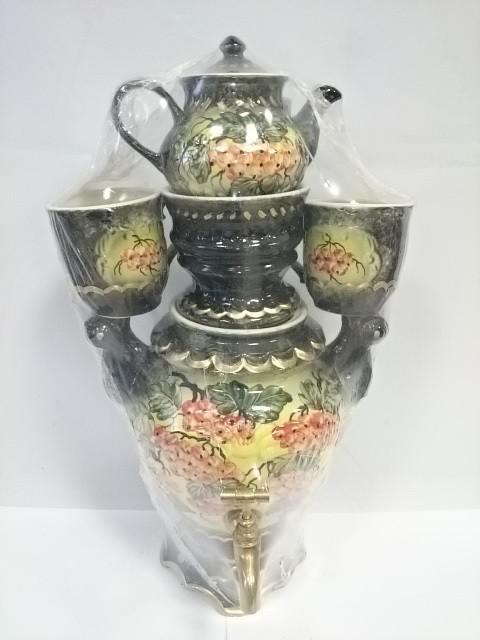 """Чайный набор """"РЯБИНА"""" из 4 предметов: электрический самовар, чайник, 2 чаш"""