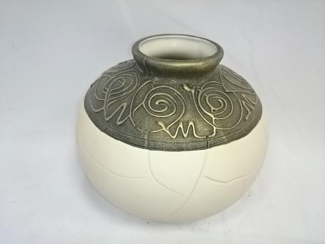 "Ваза ""Шарик"", 15 х 15 см, керамика."