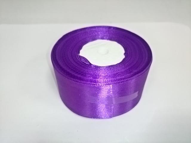 Лента атласная 3,8 см * 25 ярдов, фиолетовая.