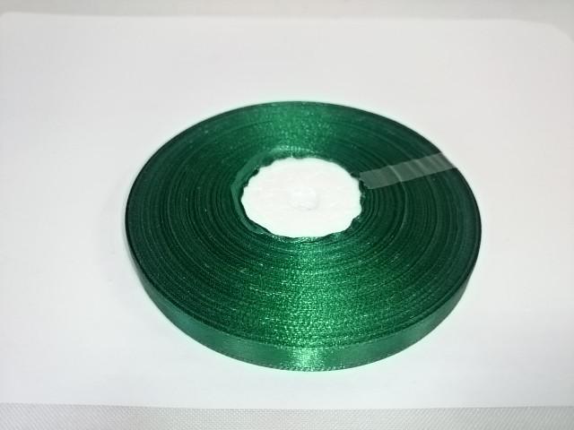 Лента атласная 10 мм * 50 ярдов, зелёная.