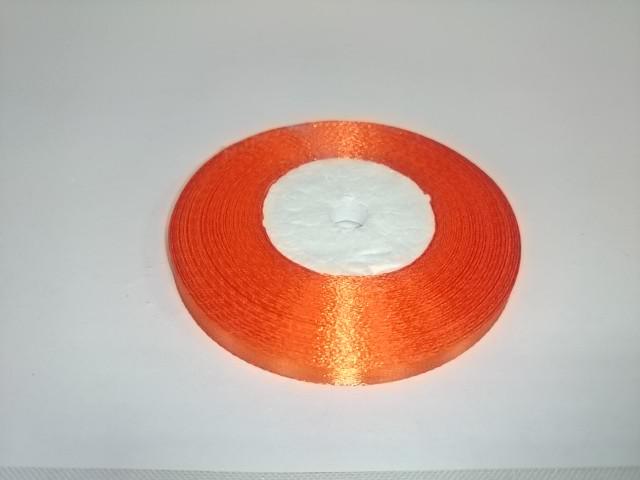Лента атласная 0,5 см * 25 ярдов, оранжевая.