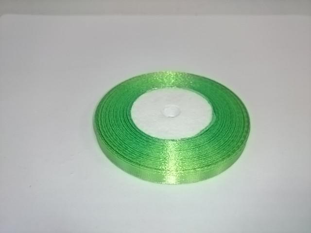 Лента атласная 0,5 см * 25 ярдов, зелёная.