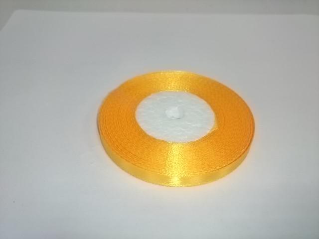 Лента атласная 0,5 см * 25 ярдов, жёлтая.