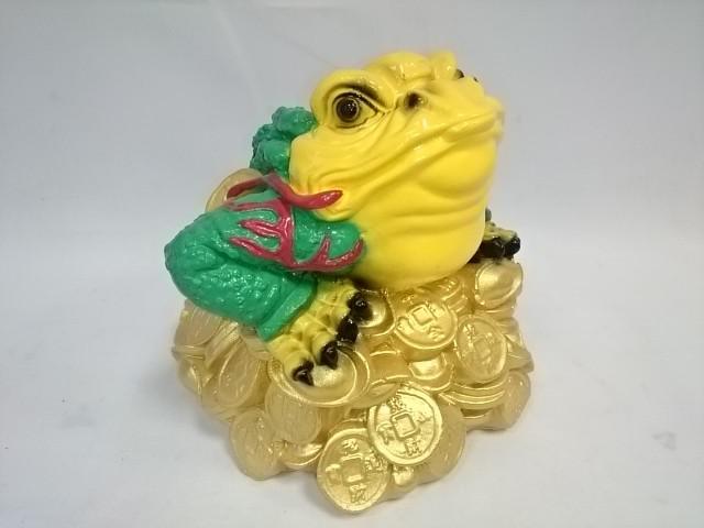Копилка Жаба денежная, 19 х 18 см, цветная.