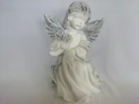Сувенир Ангел в платье большой античный, 36 см, гипс.