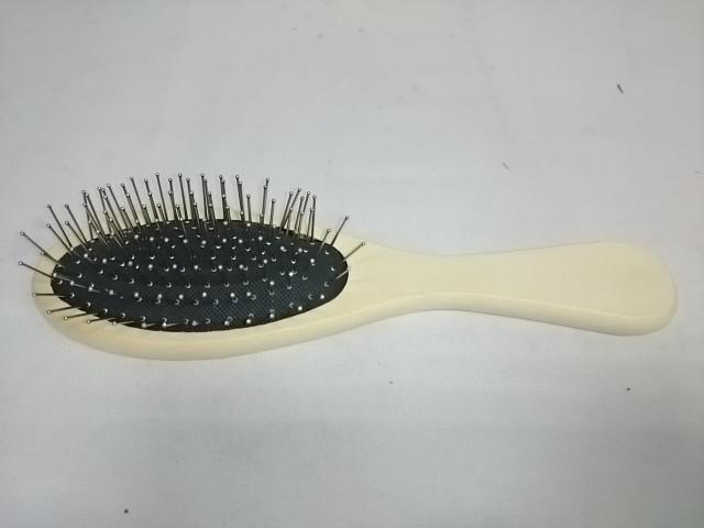 Расчёска массажная деревянная, металлические зубья, 21 см, 1 штука.