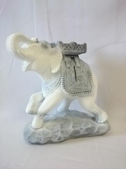 Копилка Слон Счастья античный, 25 х 22 см, гипс.
