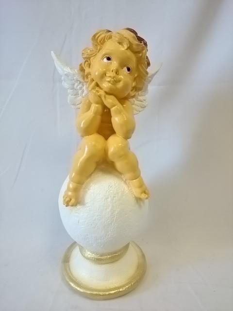 """Сувенир """"Ангел на шаре"""", 46 см, гипс."""