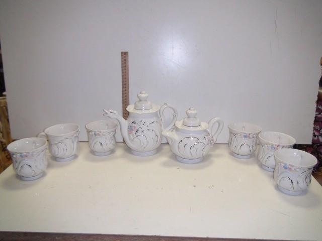 Набор чайный Лебедь, 8 предметов.