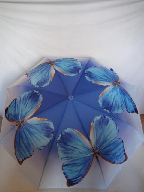 "Зонт женский ""Стрекозы, бабочки"" полуавтомат, 8 спиц"