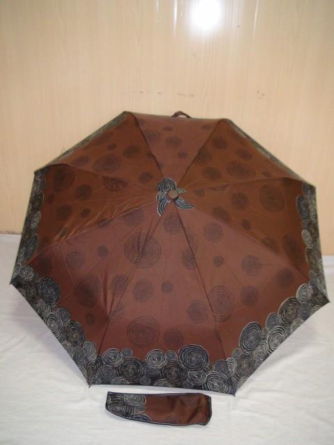 Зонт женский автомат, 8 спиц, D= 100 см., полиэстер, ткань, металл, коричневый